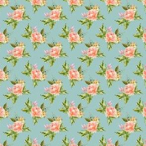 """1.5"""" Ellie Florals - Green"""