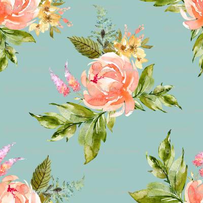 """4"""" Ellie Florals - Green"""