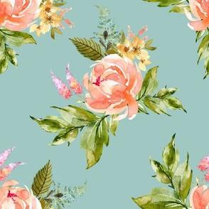 """8"""" Ellie Florals - Green"""
