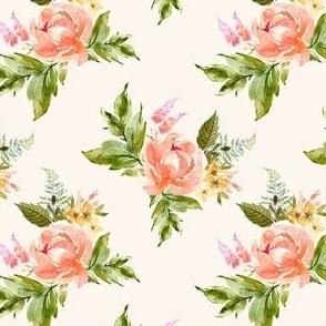 "4"" Ellie Florals - Ivory"
