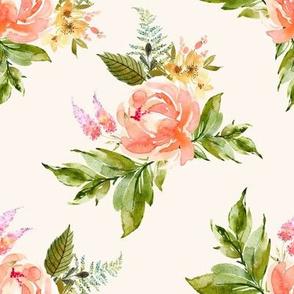 "8"" Ellie Florals - Ivory"