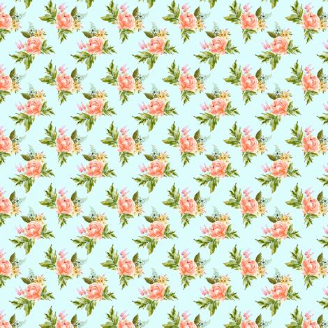 "1.5"" Ellie Florals - Light Blue fabric by shopcabin on Spoonflower - custom fabric"