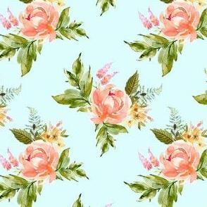 "4"" Ellie Florals - Light Blue"