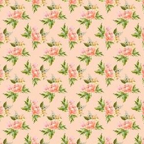 "1.5"" Ellie Florals - Peach"