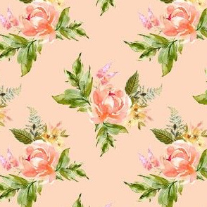 "4"" Ellie Florals - Peach"
