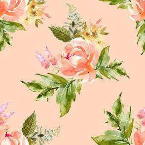 "8"" Ellie Florals - Peach"