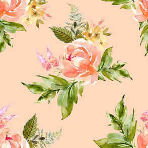 "21"" Ellie Florals - Peach"