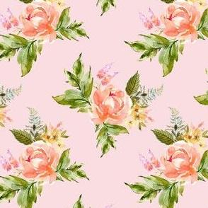 "4"" Ellie Florals - Pink"
