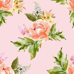 "8"" Ellie Florals - Pink"