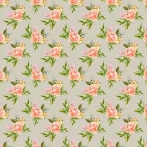 "1.5"" Ellie Florals - Taupe"