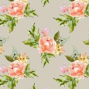 "4"" Ellie Florals - Taupe"