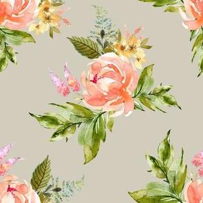 "8"" Ellie Florals - Taupe"