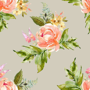 "21"" Ellie Florals - Taupe"