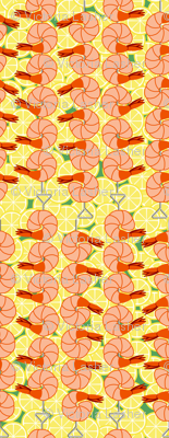 shrimp on lemon slices