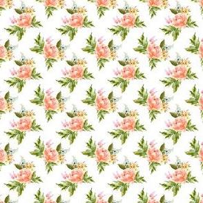 """1.5"""" Ellie Florals - White"""