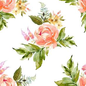 """21"""" Ellie Florals - White"""
