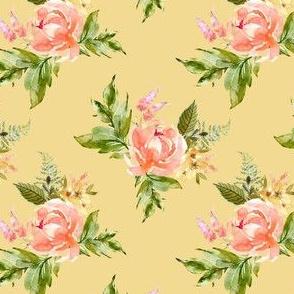 """4"""" Ellie Florals - Yellow"""