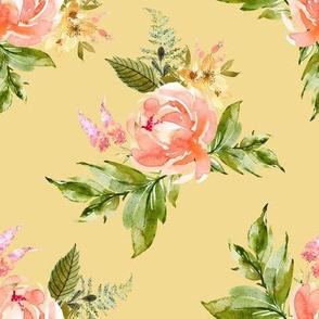 """8"""" Ellie Florals - Yellow"""