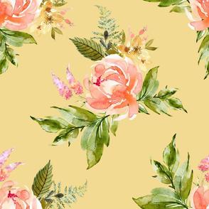 """21"""" Ellie Florals - Yellow"""