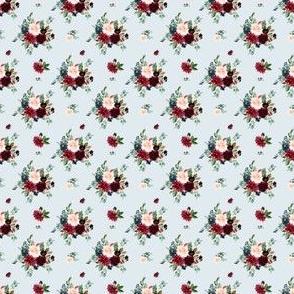 """1.5"""" Rustic Boho Florals - Blue"""