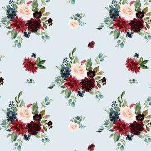"""4"""" Rustic Boho Florals - Blue"""
