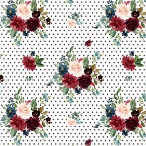 """4"""" Rustic Boho Florals - Polka Dots"""