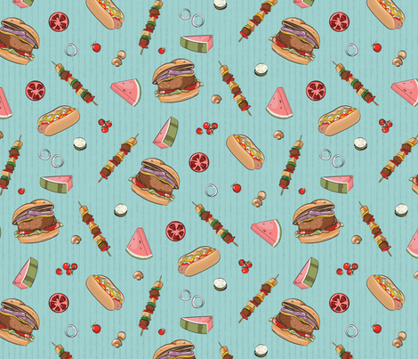 Tastes Like Summer fabric by lucaswoolleydesigns on Spoonflower - custom fabric