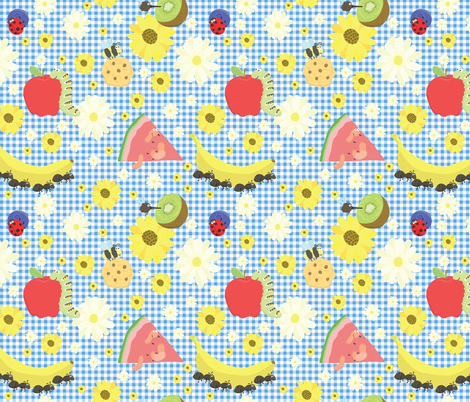 Bug Picnic fabric by manateedesignsco on Spoonflower - custom fabric