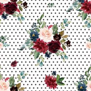 """21"""" Rustic Boho Florals - Polka Dots"""