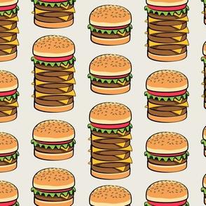 I love hamburgers -cookout fabric - tan