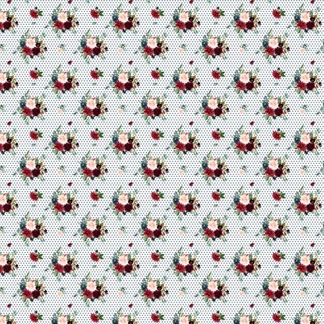 "1.5"" Rustic Boho Florals - Dark Blue Polka Dots fabric by shopcabin on Spoonflower - custom fabric"