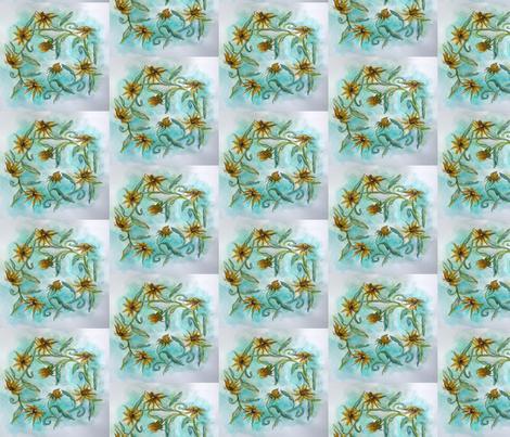 Daisy Chain  fabric by karry_l on Spoonflower - custom fabric