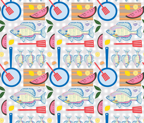 Fish Fry fabric by katie_hayes on Spoonflower - custom fabric