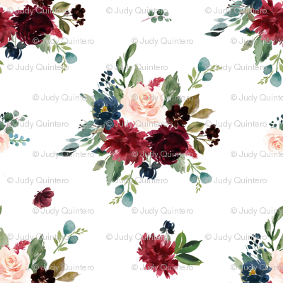 "21"" Rustic Boho Florals - White"