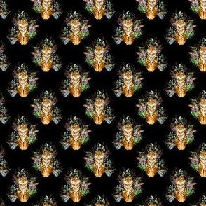 "1.5"" Boho Tiger Florals - Black"