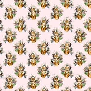 """1.5"""" Boho Tiger Florals - Blush"""