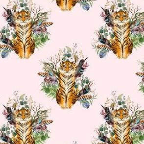 """4"""" Boho Tiger Florals - Blush"""