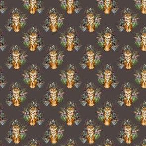 """1.5"""" Boho Tiger Florals - Brown"""