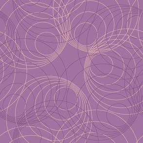 Vintage Matchbox Circles - Violet