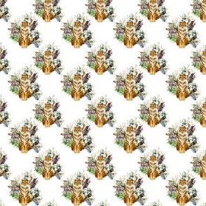 "1.5"" Boho Tiger Florals - White"