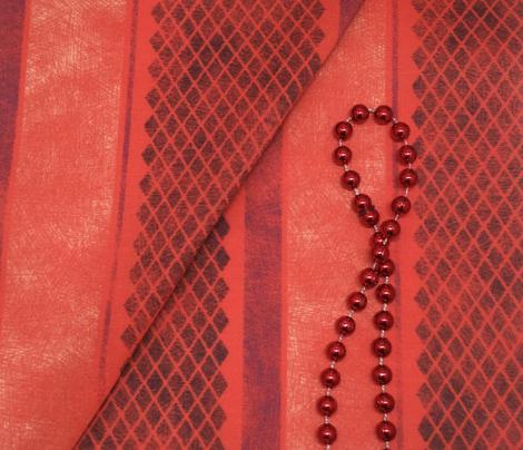 Vintage Matchbox Stripe - Red