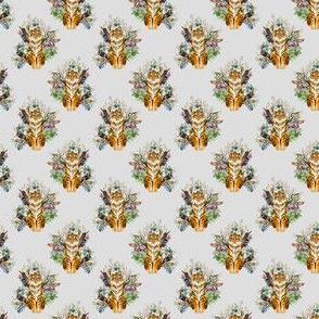 "1.5"" Boho Tiger Florals - Grey"