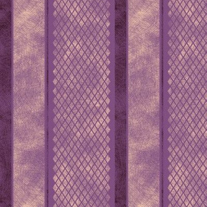 Vintage Matchbox Stripe - Violet