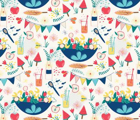 summer cookout fabric by gkumardesign on Spoonflower - custom fabric