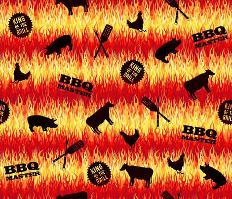 BBQ Master fabric by wickedrefined on Spoonflower - custom fabric