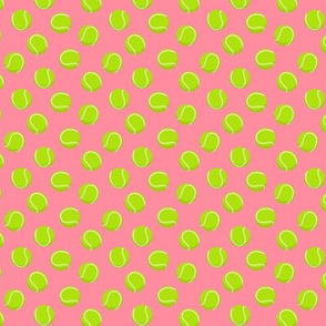 (extra small scale) tennis balls on pink