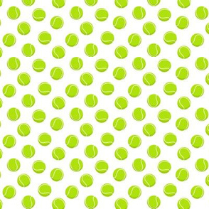 (extra small scale) tennis balls on white