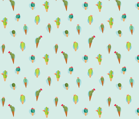 Summer Cactus Cones fabric by little_baboo on Spoonflower - custom fabric