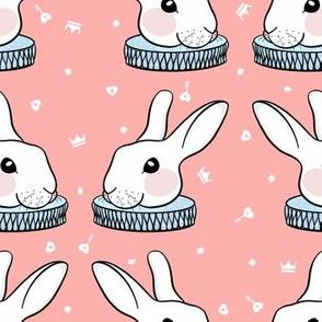 Alice In Wonderland - White Rabbit // Pink