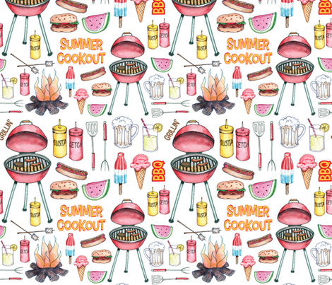 Summer Cookout fabric by kimbliss on Spoonflower - custom fabric